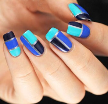 latest-nail-art-trends-spring-summer-2016-nailpolish-designs-ideas-color-blocking-blue